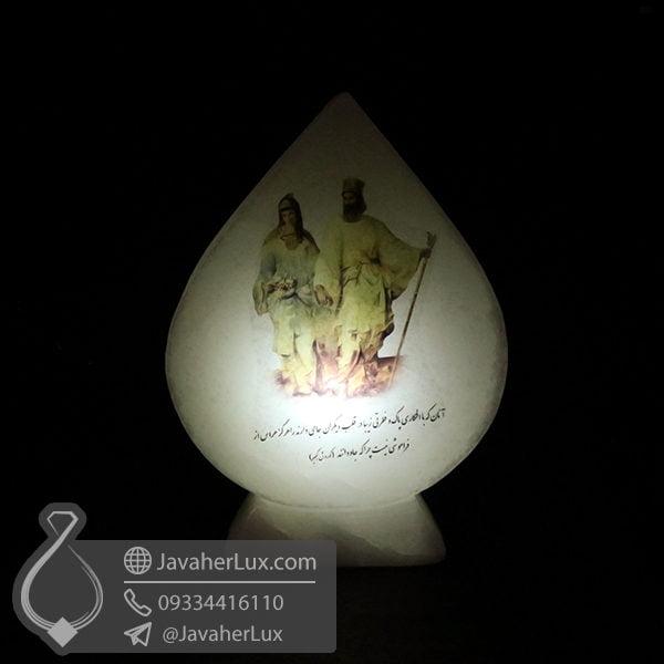 سنگ نمک سفید طرح کوروش کبیر _ کد : 400493