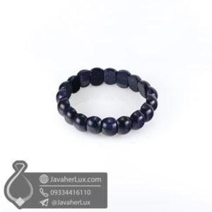 دستبند سنگ دلربا آبی _ کد : 400504