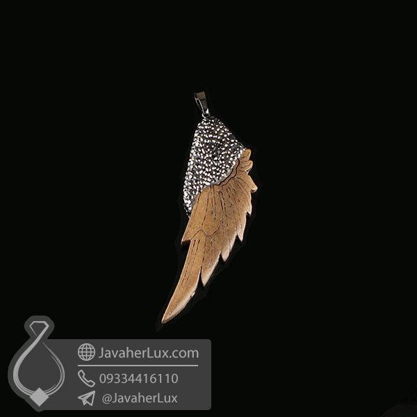 گردنبند بال فرشته چوبی _ کد : 200206