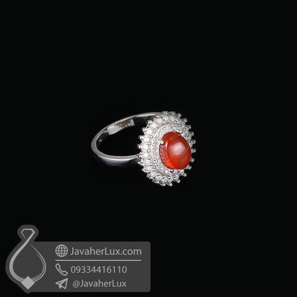 انگشتر نقره زنانه عقیق یمنی مدل عاموس _ کد : 100594