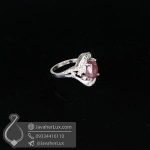 انگشتر نقره زنانه یاقوت سرخ مدل کدمان _ کد : 100624