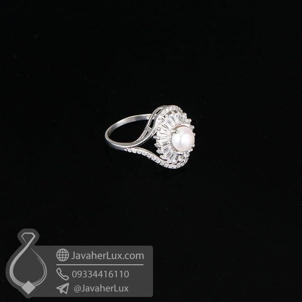 انگشتر نقره زنانه مروارید طبیعی _ کد : 100626