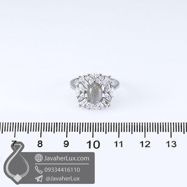 انگشتر نقره زنانه لابرادوریت مدل کاوان _ کد : 100627