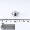 انگشتر نقره زنانه گارنت مدل کایوس _ کد : 100628