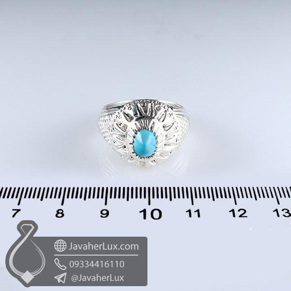 انگشتر نقره مردانه فیروزه نیشابوری اصلی _ کد : 100629