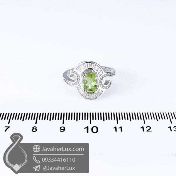 انگشتر نقره زنانه زبرجد مدل کلاهور _ کد : 100632