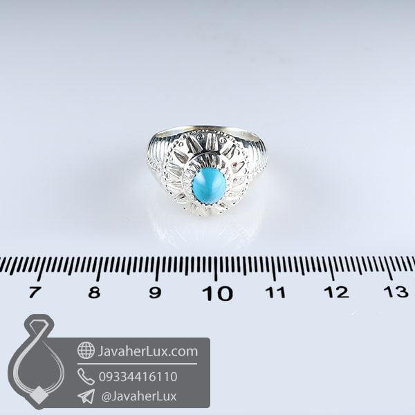 انگشتر فیروزه نیشابوری مردانه _ کد : 100637