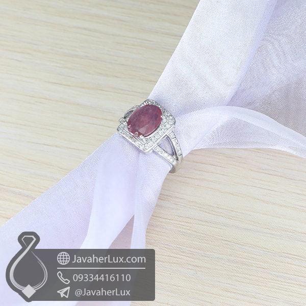 انگشتر نقره زنانه یاقوت سرخ _ کد : 100638