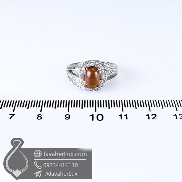 انگشتر نقره زنانه گارنت _ کد : 100640