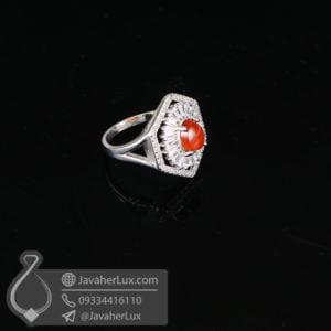 انگشتر نقره زنانه عقیق یمنی _ کد : 100641