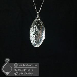 گردنبند قاب عکسی نقره _ کد : 100644
