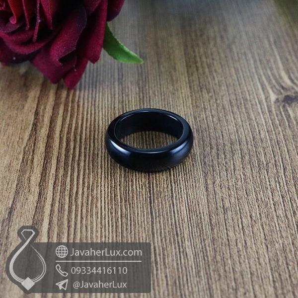 حلقه سنگ عقیق سیاه _ کد : 400569