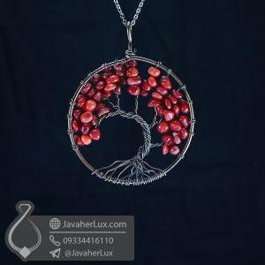 گردنبند جاسپر خونی درخت زندگی _ کد : 400567