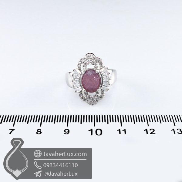 انگشتر نقره زنانه یاقوت سرخ _ کد : 100652