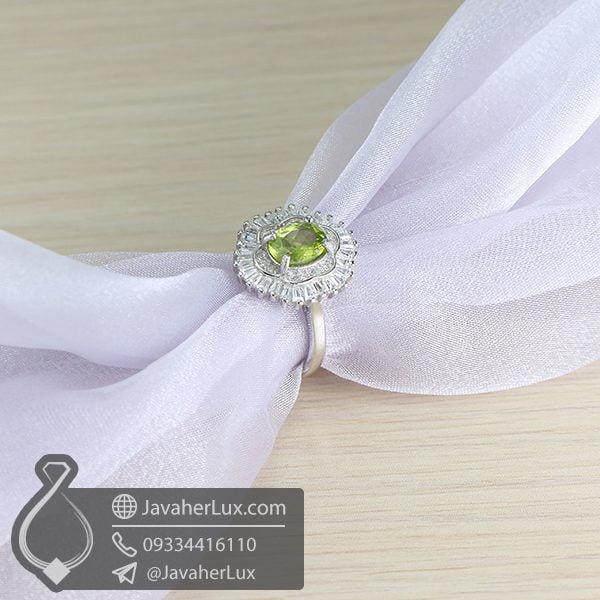 انگشتر نقره زنانه زبرجد _ کد : 100653