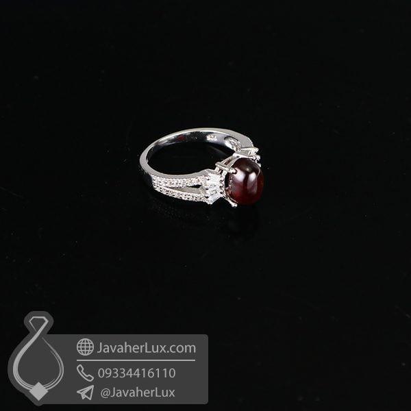 انگشتر نقره گارنت زنانه _ کد : 100655