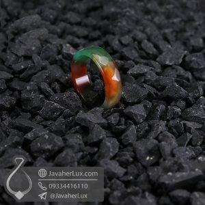 حلقه سنگ عقیق سلیمانی _ کد : 400589