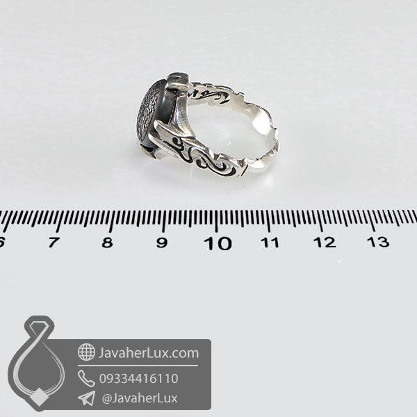 انگشتر نقره مردانه حدید صینی حکاکی هفت جلاله _ کد : 100683