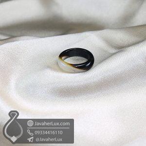 حلقه سنگ عقیق سلیمانی _ کد : 400599