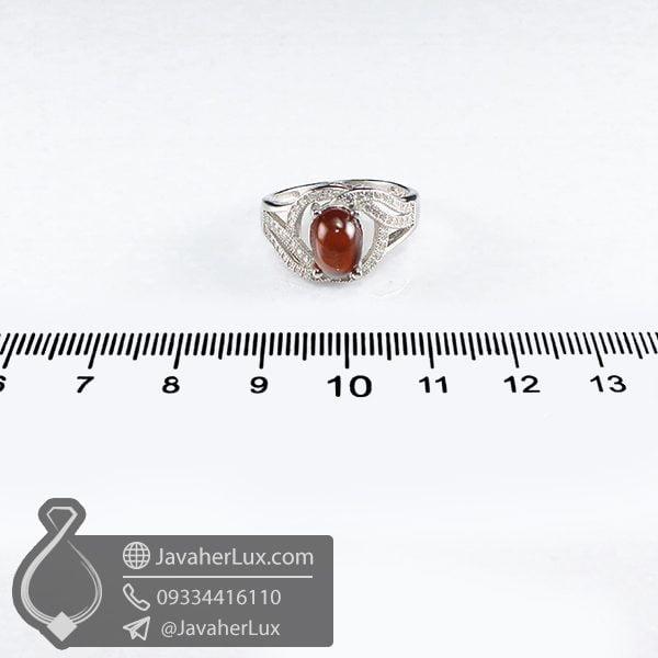انگشتر نقره زنانه گارنت مدل مریدان _ کد : 100693