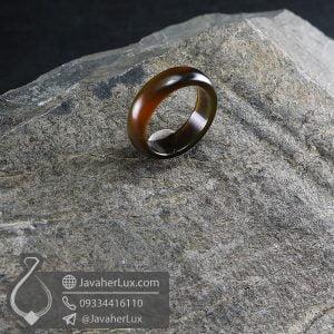 حلقه عقیق سلیمانی مدل اگنور _ کد : 400646