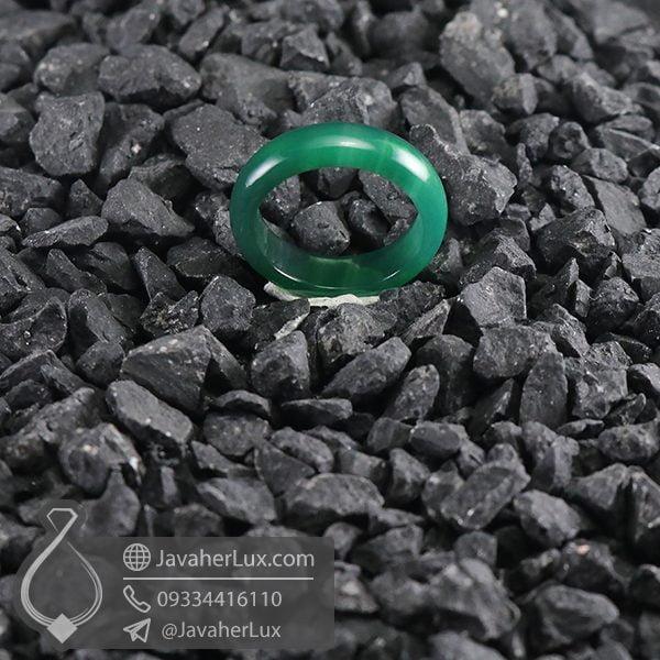 حلقه سنگ عقیق سبز _ کد : 400658