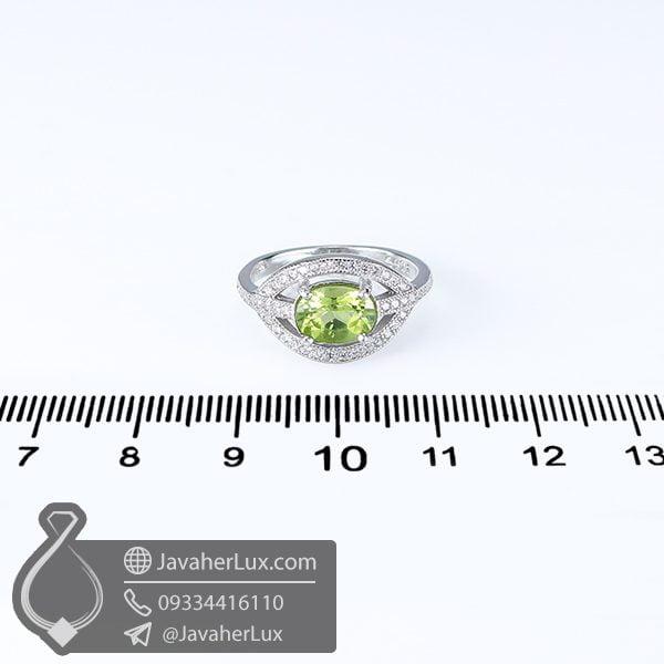 انگشتر نقره زنانه زبرجد _ کد : 100614