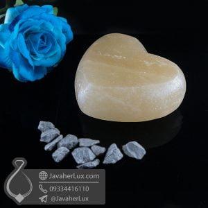 صابون سنگ نمک هالیت تراش قلب _ کد : 400622