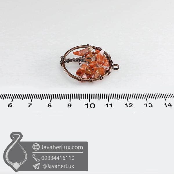 گردنبند عقیق قرمز درخت زندگی کوچک _ کد : 400636
