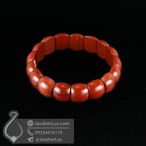 دستبند سنگ جاسپر خوني _ کد : 400529