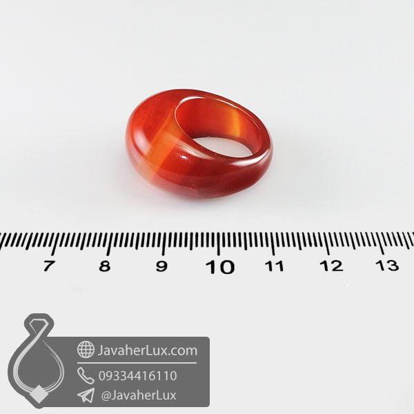 انگشتر سنگ عقیق سلیمانی _ کد : 400677