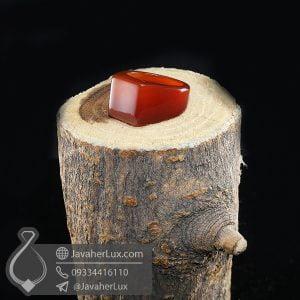 انگشتر سنگ عقیق قرمز _ کد : 400679