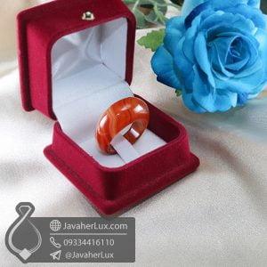 انگشتر سنگ عقیق سلیمانی قرمز _ کد : 400683