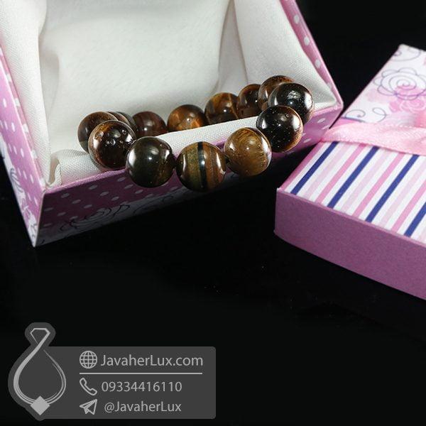 دستبند سنگ چشم ببر _ کد : 400685 | دستبند سنگ | دستبند چشم ببر