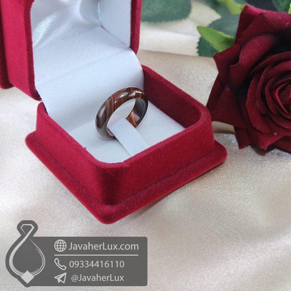 حلقه سنگ عقیق سلیمانی _ کد : 400694