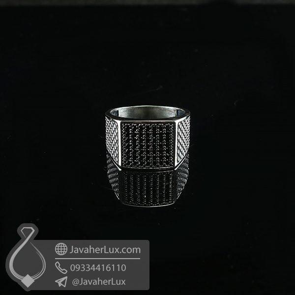 انگشتر نقره مردانه اسپرت _ کد : 100718