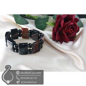 دستبند سنگ عقیق سلیمانی _ کد : 400698