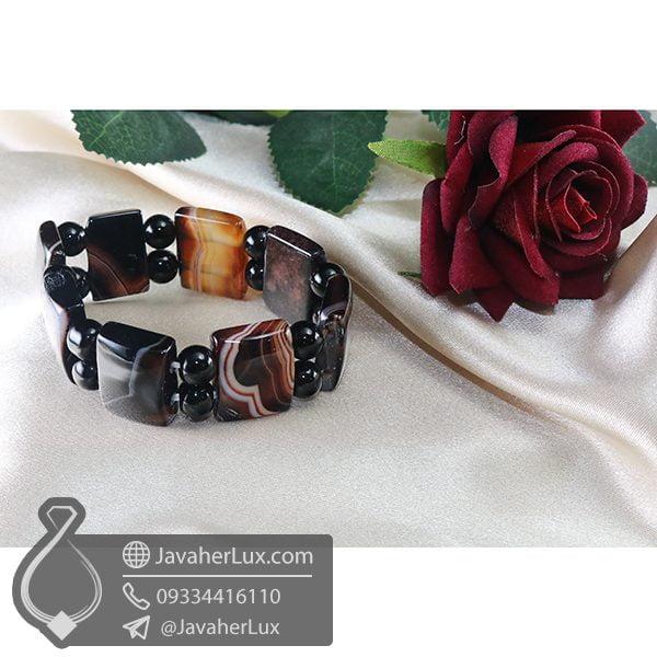 دستبند سنگ عقیق سلیمانی _ کد : 400699