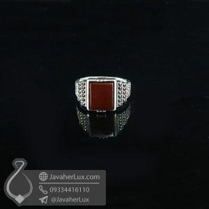 انگشتر نقره اسپرت عقیق قرمز _ کد : 100715