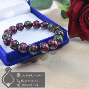 دستبند سنگ روبی زئوسیت _ کد : 400701