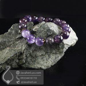 دستبند سنگ آمتیست _ کد : 400704
