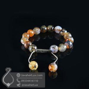 دستبند بافت سنگ عقیق شجر _ کد : 400711