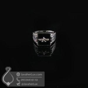 انگشتر نقره مردانه عقیق سیاه فروهر _ کد : 100733