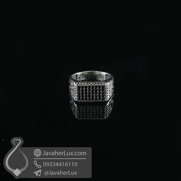 انگشتر نقره مردانه اسپرت طرح آتش _ کد : 100734