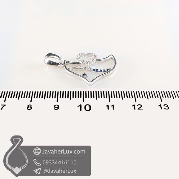 گردنبند نقره طرح ماهی _ کد : 100741
