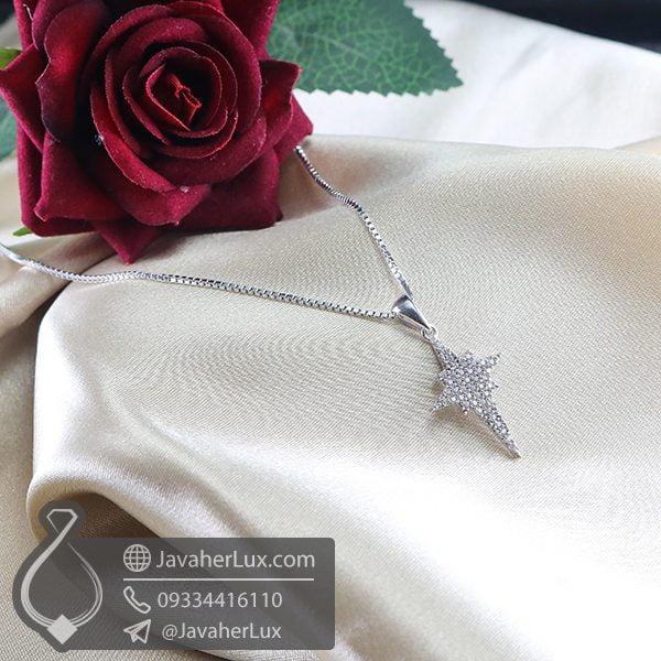 گردنبند نقره طرح ستاره _ کد : 100742
