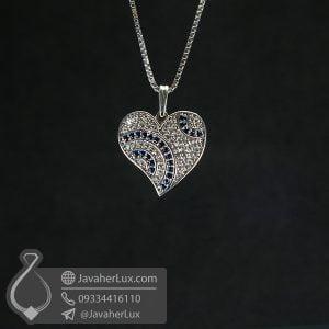 گردنبند نقره طرح قلب _ کد : 100745