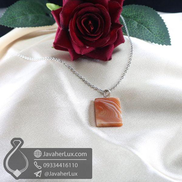 گردنبند سنگ عقیق سلیمانی _ کد : 400721