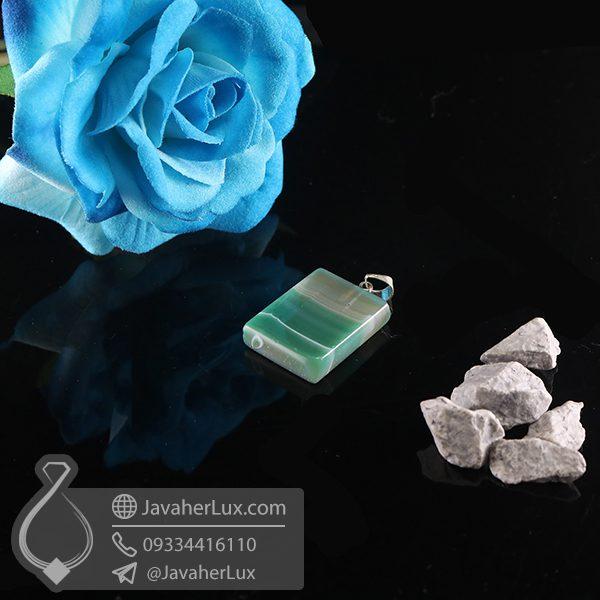 گردنبند سنگ عقیق سلیمانی _ کد : 400726
