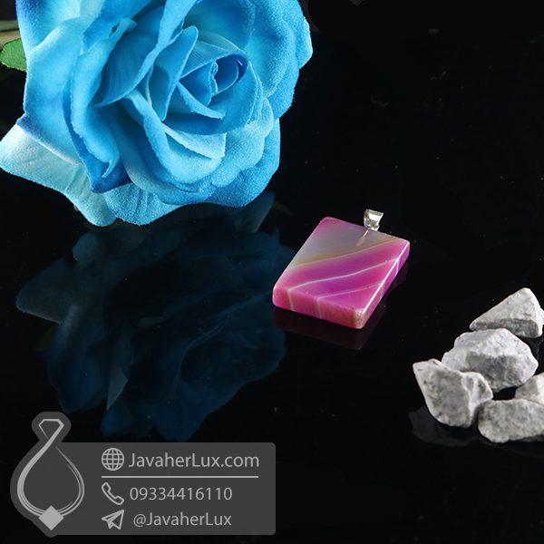 گردنبند سنگ عقیق سلیمانی _ کد : 400728